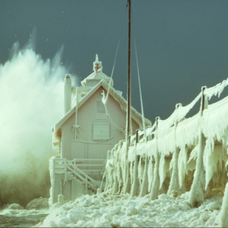 Winter at the Grand Haven Light House